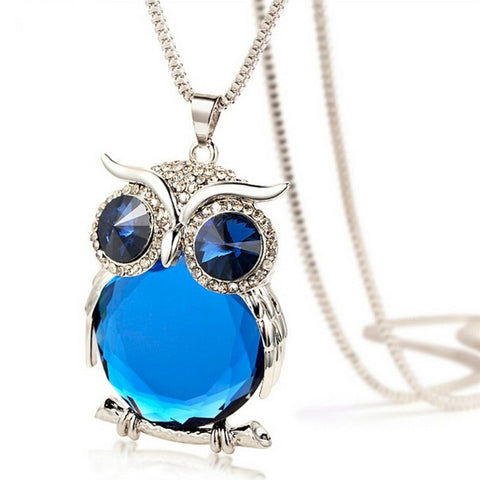 Owl Crystal Necklace Pendant