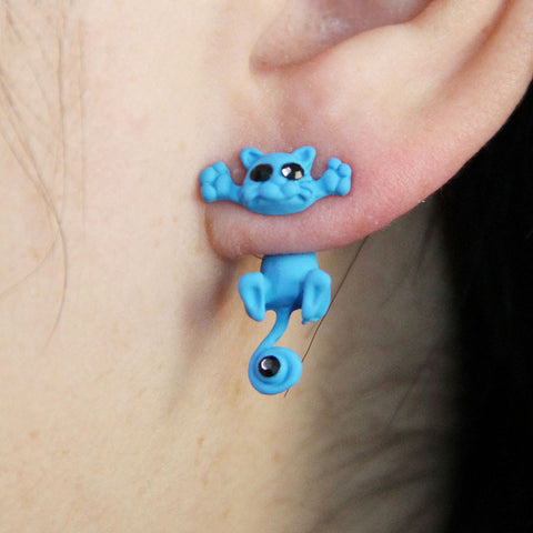 New Multiple Color Cute Kitten Stud Earrings