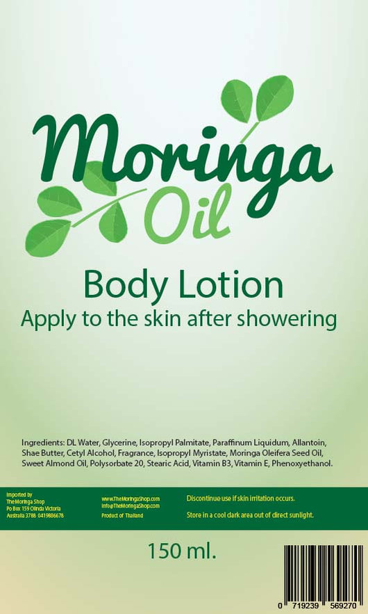 Moringa Oil Body Lotion 150 ML. 50% off