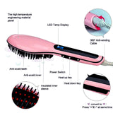 2-in-1 Hair Straightening Brush