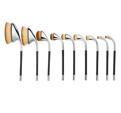 9 Pieces Ultra Premium Oval Makeup Brush Set