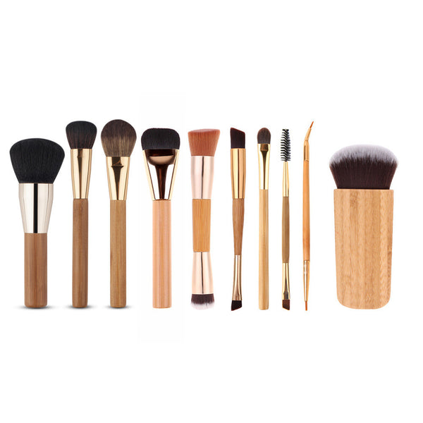 10 Pieces Complete Oval Makeup Brush Set (50% OFF)