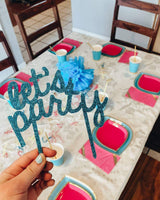 The Party Box Co, Let's Party Cake Topper