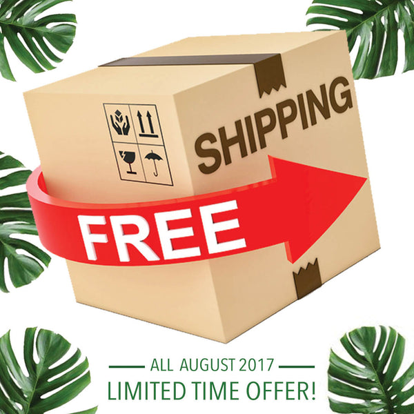 FREE SHIPPING SPECIAL ON ALL U.S.A ORDERS OVER $150 ALL AUGUST LONG!