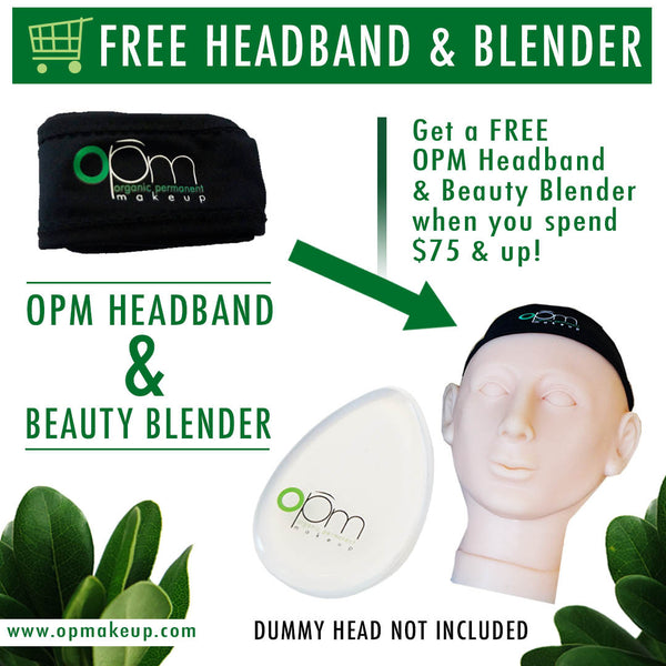 NEW SPECIAL! OPM FREE HEADBAND & OPM BEAUTY BLENDER WHEN YOU SPEND $75 & UP