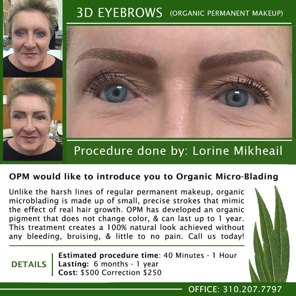 LORINE PERFORMS 3D EYEBROW PROCEDURE - NEW VIDEO & PICTURES