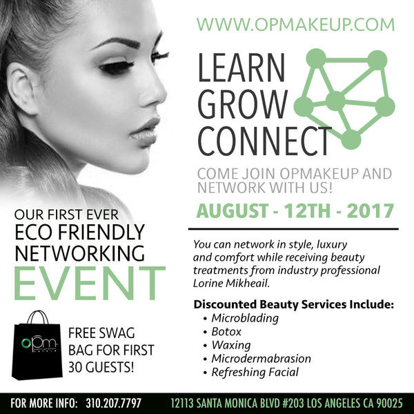DON'T MISS OUT ON OPM'S FIRST ECO FRIENDLY NETWORKING EVENT AUGUST - 12TH - 2017