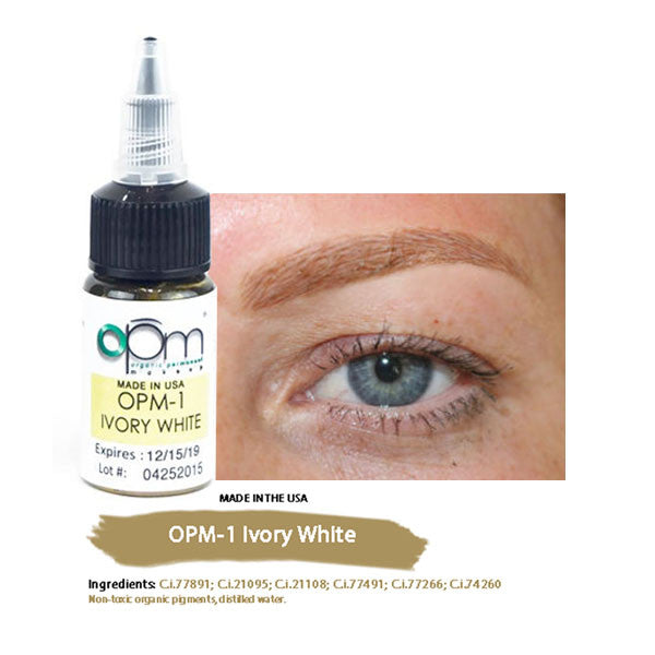 OPM-1 Ivory White (Eyebrow Pigment) 15ml per bottle