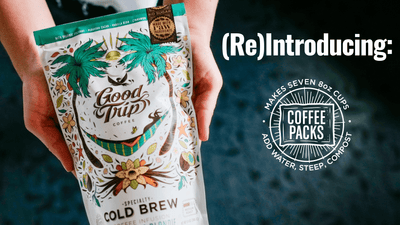 Meet our new Coffee Packs: cold brew has never been easier