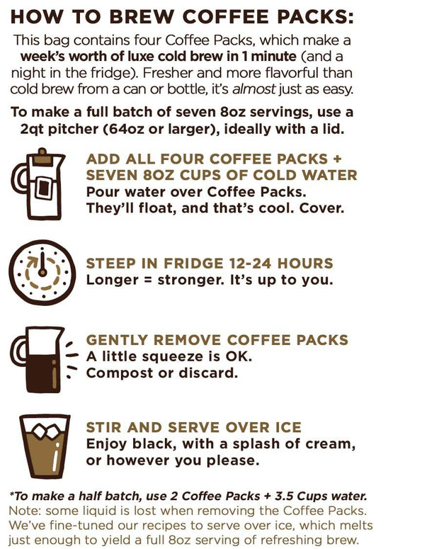 how to brew good trip cold brew coffee packs