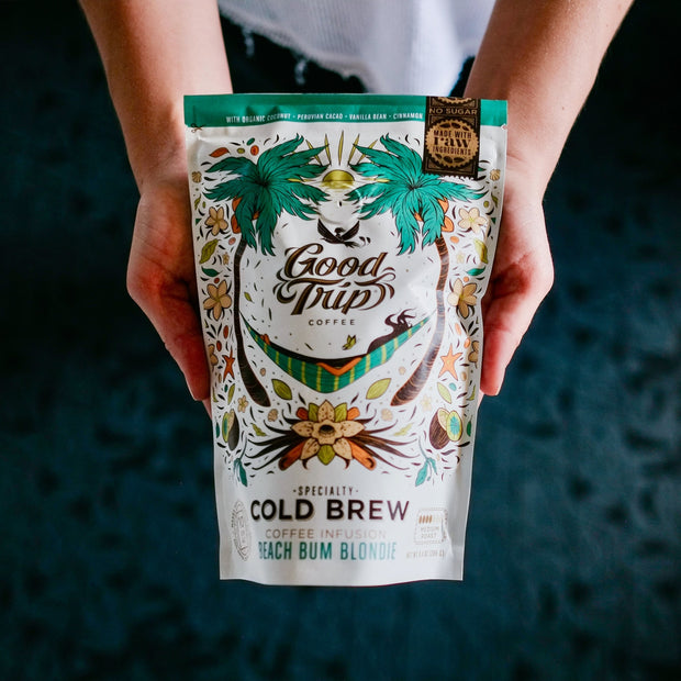 good trip coffee beach bum blondie coconut infused cold brew