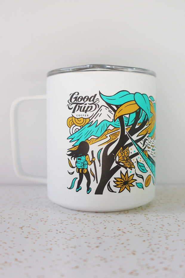 good trip coffee miir camp cup design front view