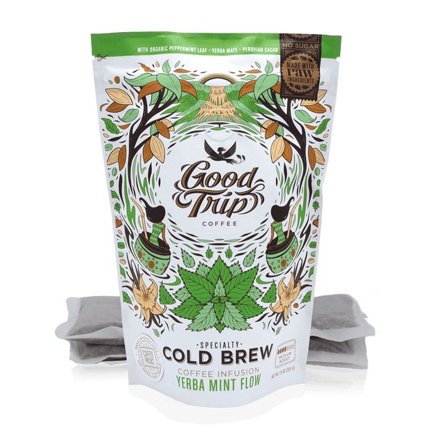 Good Trip mint infused cold brew coffee