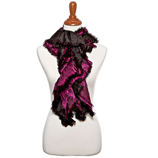 Black and Purple Oblong Scarf - Maggie and Mae