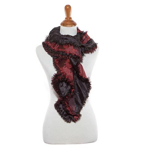 Black and Red Oblong Scarf - Maggie and Mae