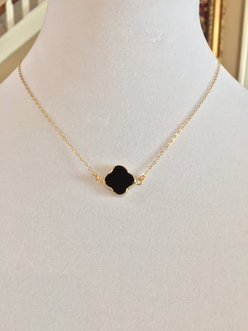 Black Clover on 14k Gold Filled Chain - Maggie and Mae