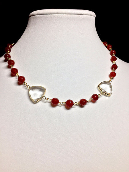 Ruby Chalcedony with Crystals - Maggie and Mae