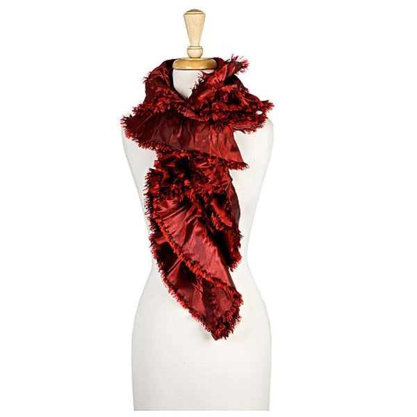 Red Oblong Scarf - Maggie and Mae