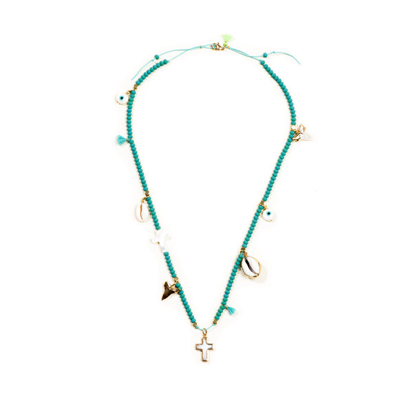Free Spirit Long Necklace Turquoise
