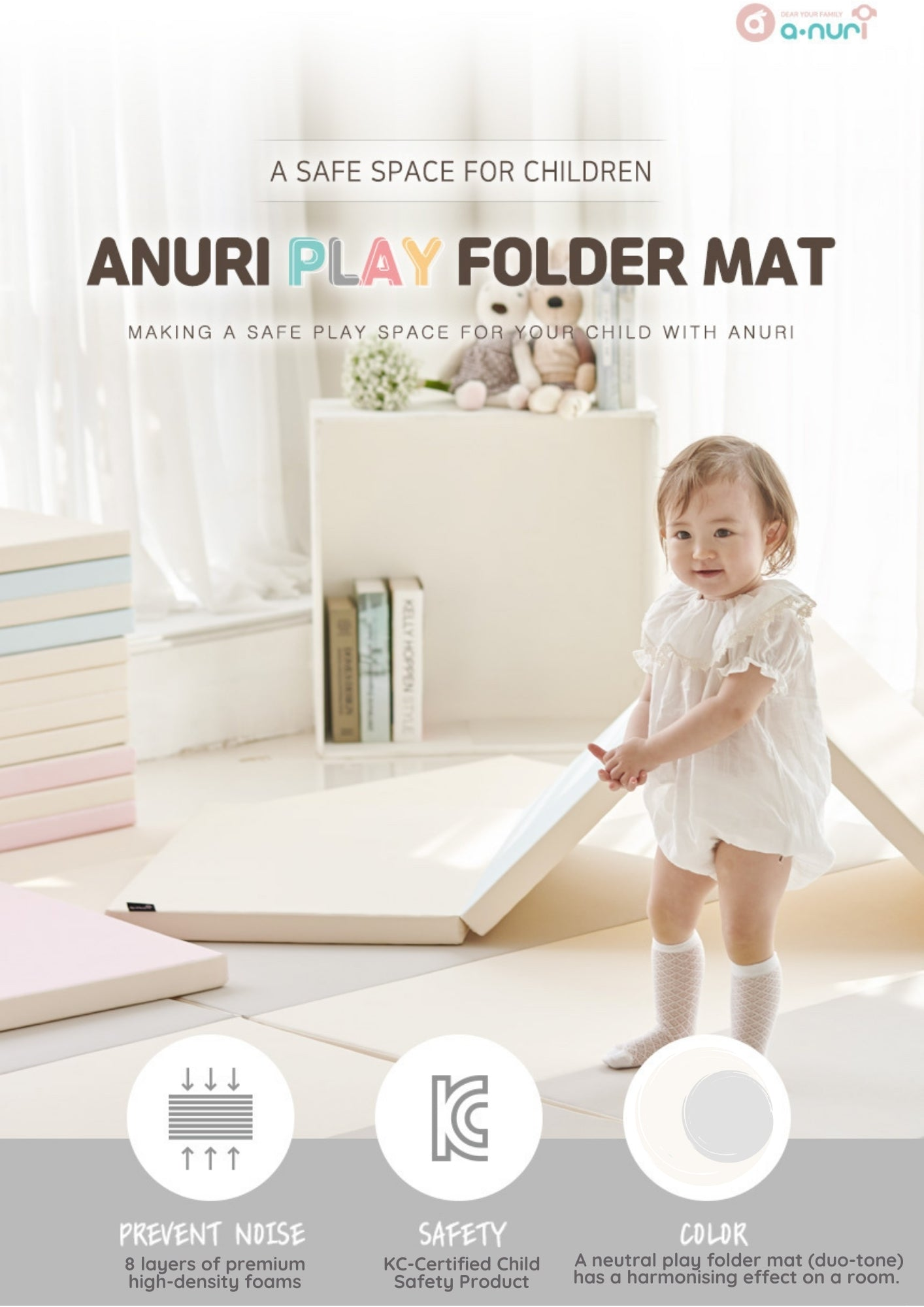 Anuri Korea play yard folder mat