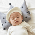 Newborn Crown Pillow + Blanket set - London Dot (Gray)