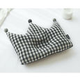 Newborn Crown Pillow + Blanket set - Mellan Check (Black)