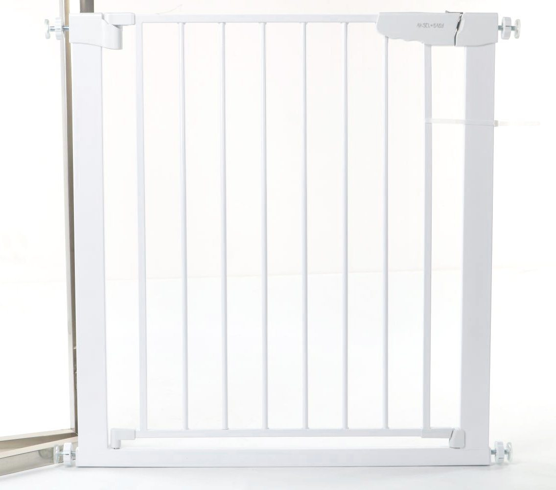 Aksel Baby Safety Gate in Classic White