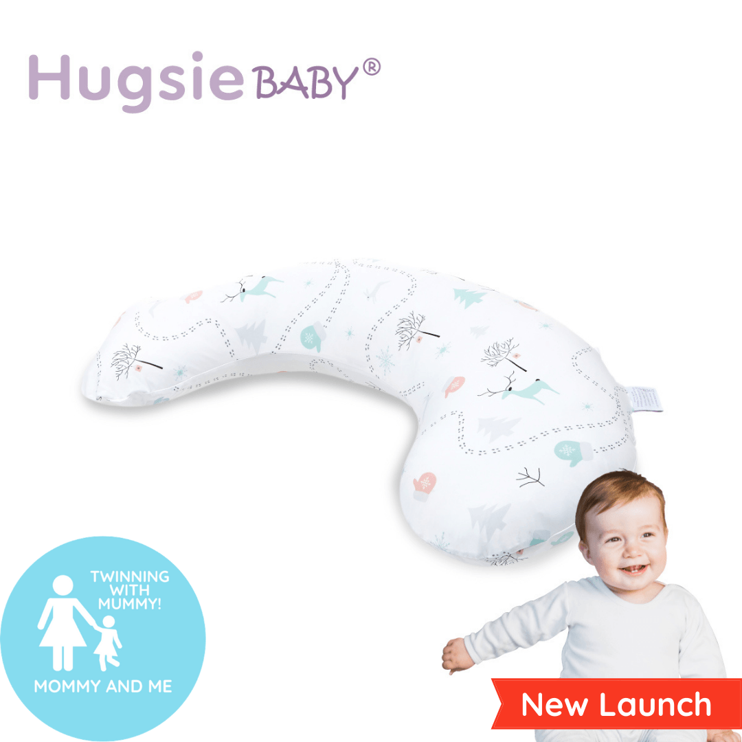 HugsieBABY® Junior Pillow - Cooling Touch (Forest)