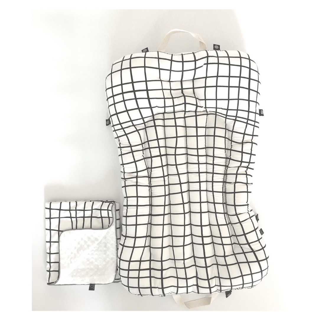 Baby Portable Bedding Set - Grid