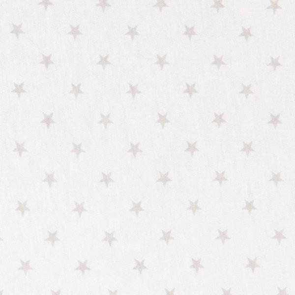 Stretch Cotton Jersey Wrap - White with Grey Stars