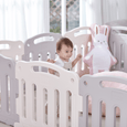 Baby Play Yard With Door Set 10pcs in Creamy White - 200×140×65cm