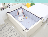 Bumper bed - Twin Star Ivory (most luxuriously sized!), Super EL size