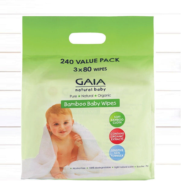 Bamboo Baby Wipes 240s value pack