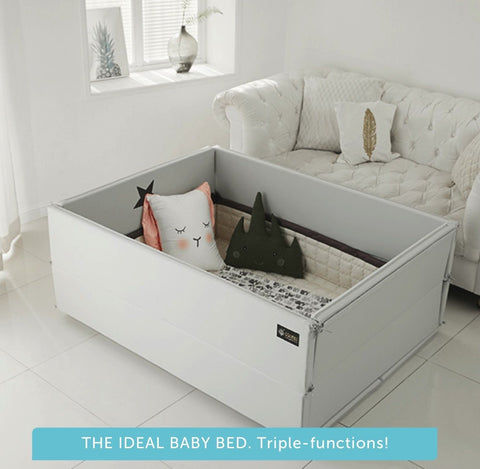 Bumper bed - World Star in Nordic Grey (GGUMBI Best-selling Baby Bed!)
