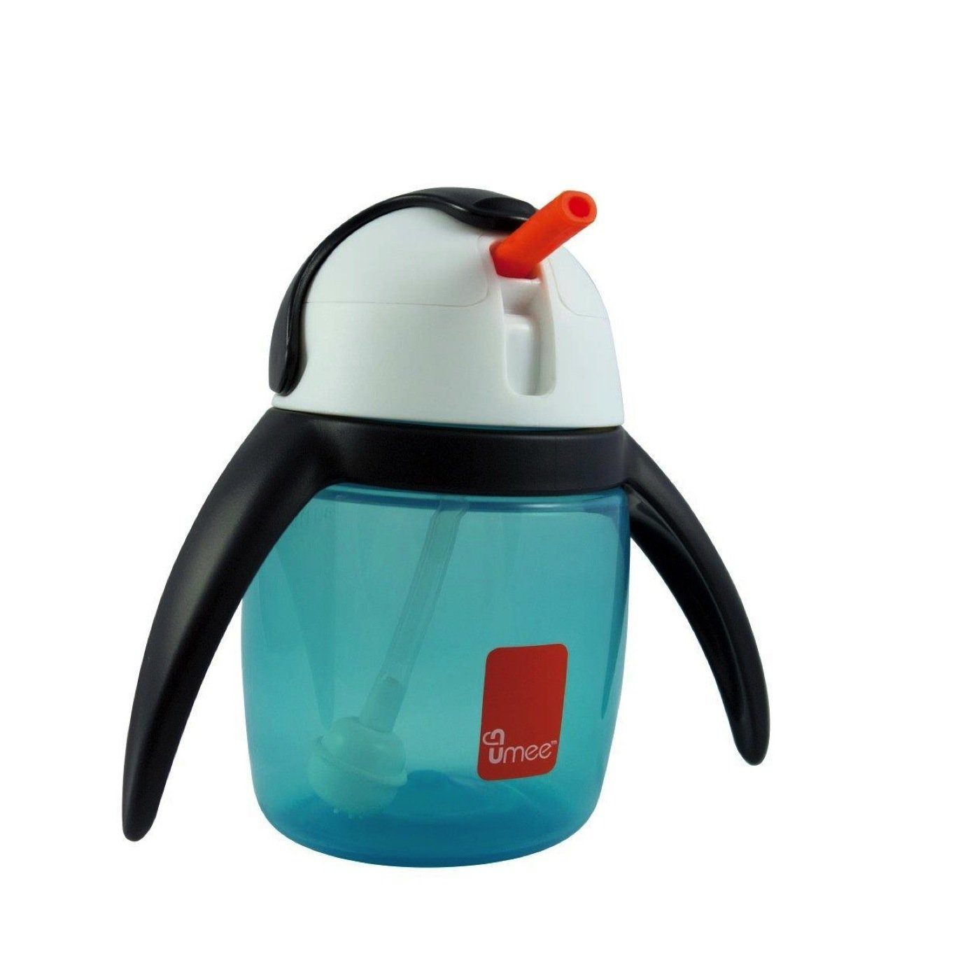 Umee U Cool straw cup, Penguin Cup 240ml (Blue)