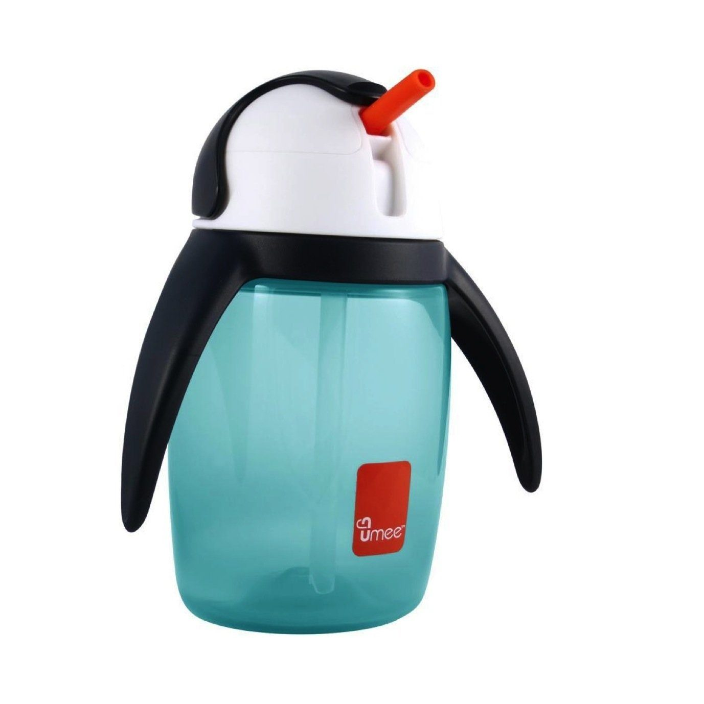 Umee U Cool straw cup, Penguin Cup 360ml (Blue)