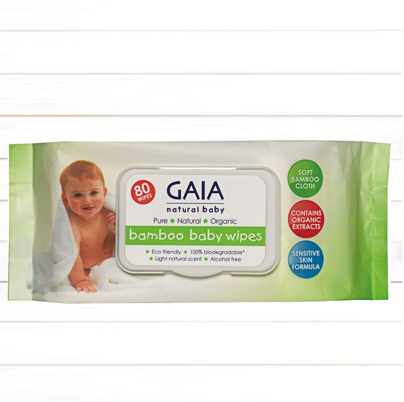 GAIA Bamboo Baby Wipes 80s