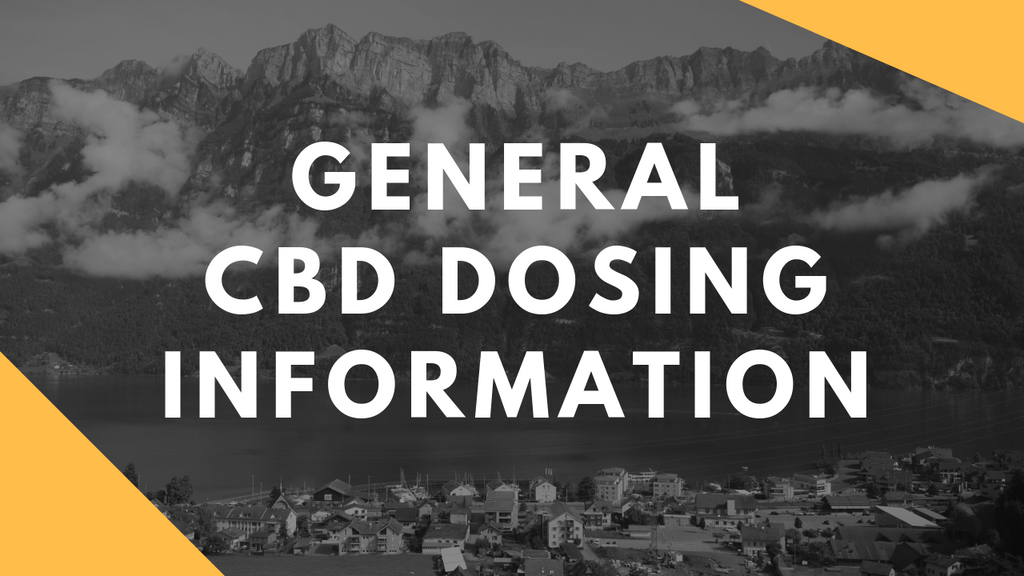 CBD Dosing: Experiment and Experience