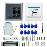 MJPT019 RFID Access Control System Kits + Magnetic Lock + 10 Buckle Card + Power Supply + Exit Button + Screws Kit