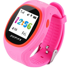ZGPAX S866A 1.22 inch IPS Screen Lovely Children Smartwatch GPS Tracking Watch Support SIM Card 2G Network Accurate Positioning HD Voice Call Pedometer Alarm Clock Family Number Speed Dial Pink