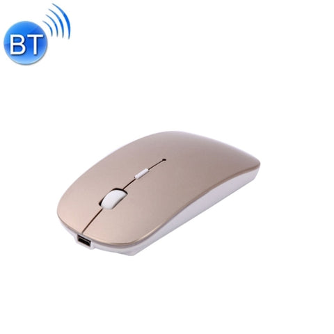 MC-008 Bluetooth 3.0 Battery Charging Wireless Mouse for Laptops and Android System Mobile Phone (Gold)   Lead Time: 2~5 Days.