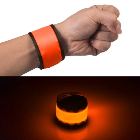 LED Luminous Slap Pat Circle Outdoors sports Wristband, Large, Size:35*4cm(Orange)   Same Day Shipping on orders before 6PM (GMT+8).
