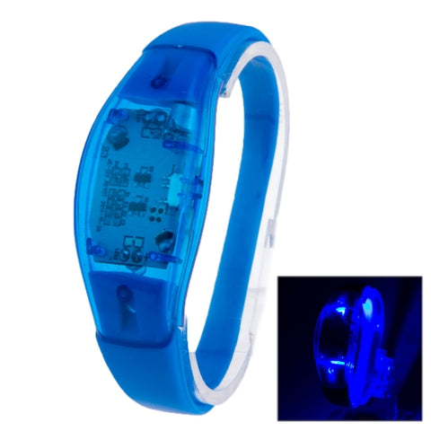 Fashion Sound Activated LED Silicone Bracelet(Blue)