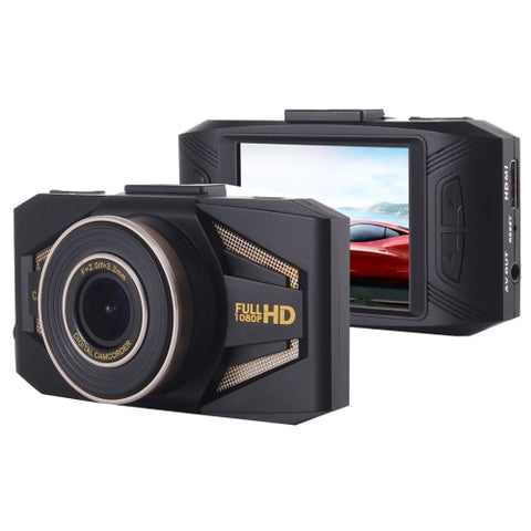 Portable Full HD 1080P Car Camcorder DVR Driving Recorder Digital Video Camera Voice Recorder, 2.4 inch TFT Screen Display, HD COMS Lens, Support 32GB TF Card(Maximum)   Lead Time: 1~3 Days.