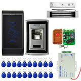 MJPT011 2 x Door Access Control System Kits + Magnetic Lock + 20 ID Keyfobs + Power Supply + Remote Controller