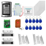 MJPT014 Door Access Control System Kits + 2 x Magnetic Lock + 10 ID Keyfobs + 10 ID Cards + Power Supply + Exit Button + Remote Controller