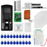 MJPT103 Fingprint & Password Access Control System Kits + Electric Lock + 20 ID Keyfobs + 10 ID Cards + Power Supply + Door Bell + Exit Button + Remote Controller