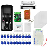 MJPT104 Fingprint & Password Access Control System Kits + Magnetic Lock + 20 ID Keyfobs + 10 ID Cards + Power Supply + Door Bell + Exit Button + Remote Controller