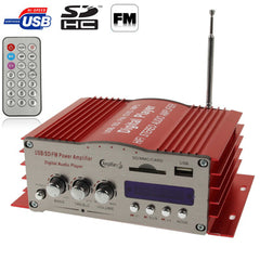 20W + 20W 2CH HiFi Multi-function Amplifier with FM Radio, Support SD / USB Flash Disk, RCA Line Input(Red)