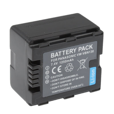 VW-VBN130 1250mAh Rechargeable Battery Pack for Panasonic Digital Camera(Black)